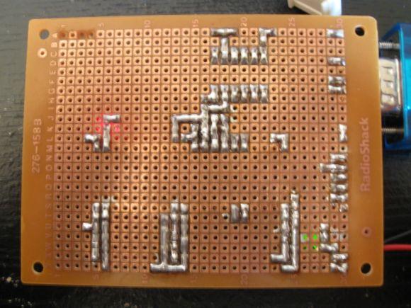 dsPIC30F4011 Prototyping Board Bottom
